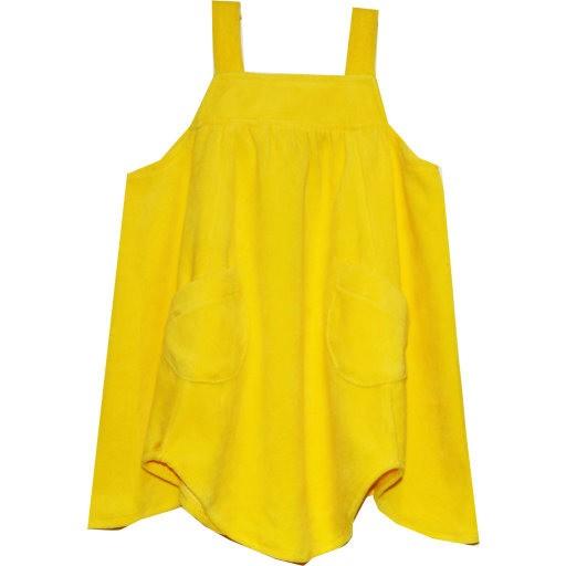 a3d68dc2a5e Krutter velours jurk geel maat 104/110 - PaRit kinderkleding- online ...