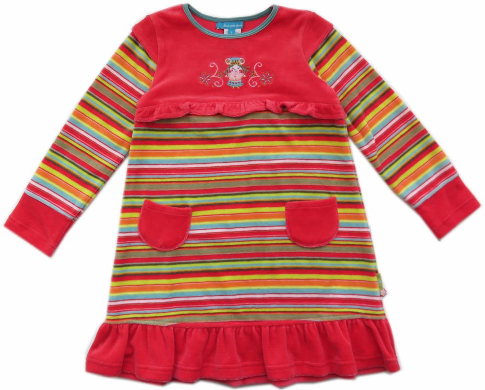 9a317b86188 Deux Par Deux Mongolie velours jurk maat 104 - PaRit kinderkleding ...