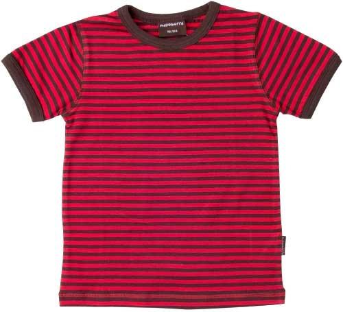 Kinderkleding Maat 74.Maxomorra Gestreepte Shirt Bruin Rood Maat 74 80 Parit
