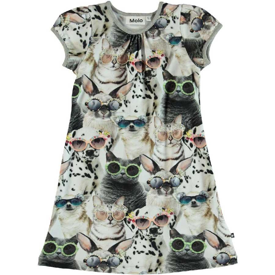 0713b0bffc8 Molo Camellia jurk Sunny Funny - PaRit kinderkleding- online kleding ...