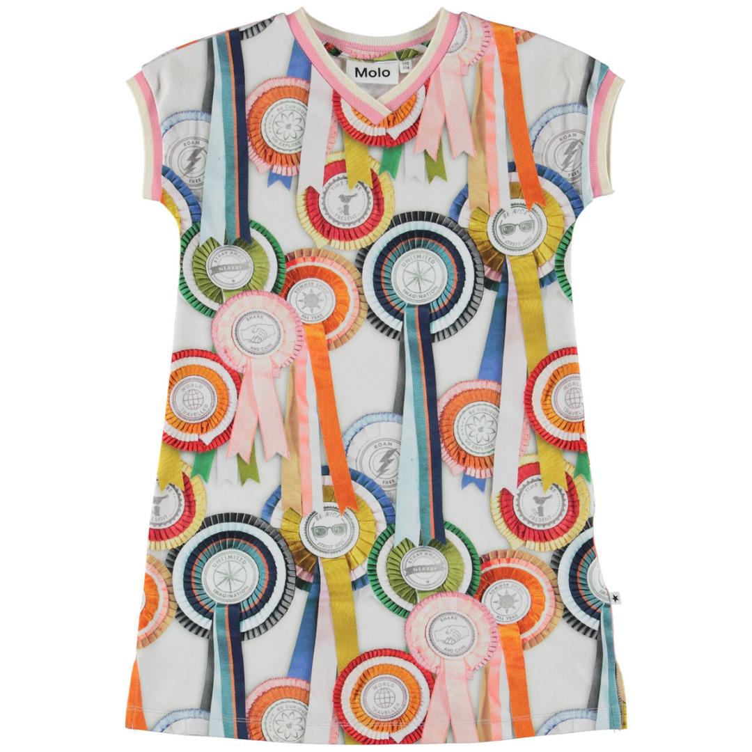 dd7b41e6444 Molo California jurk Rosettes - PaRit kinderkleding- online kleding ...