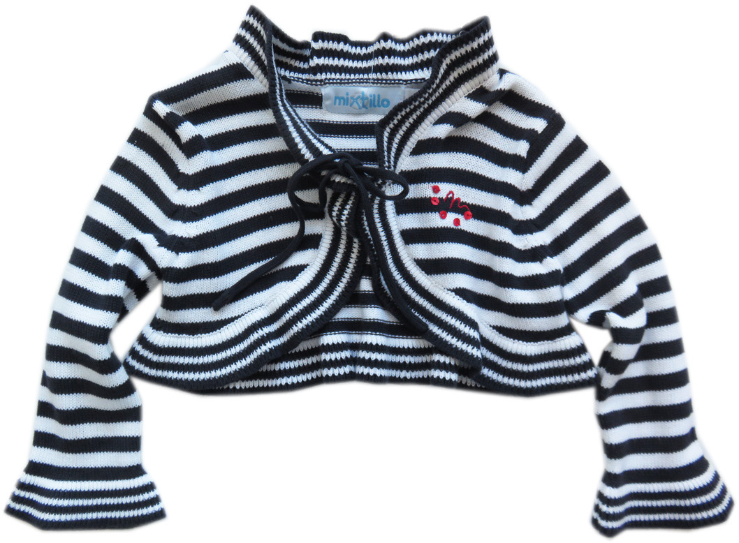 Kinderkleding Maat 80.Mirtillo Happy Boat Gestreepte Bolero Vest Maat 80 Parit