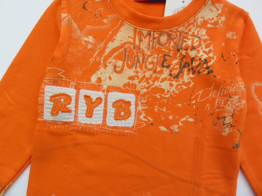 Oranje Trui.R Y B Sweatshirt Longsleeve Oranje Parit Kinderkleding Online