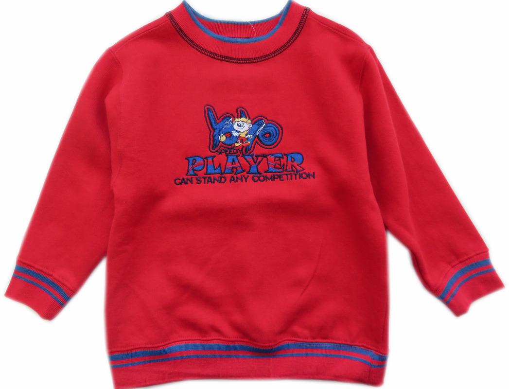 Trui Rood.Slogan Sweatshirt Trui Player Rood Parit Kinderkleding Online