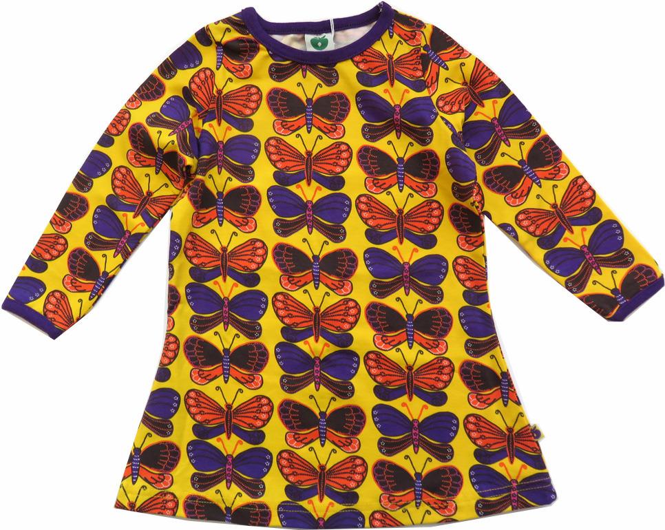 099a2b28846 Smafolk jurk Vlinders geel maat 86/92 - PaRit kinderkleding- online ...