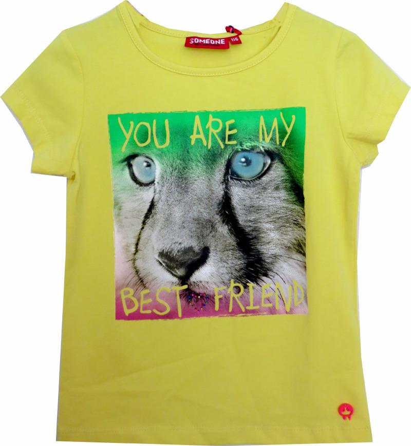 251c7eb17e8 Someone shirt Best Friend Tijger geel - PaRit kinderkleding- online ...