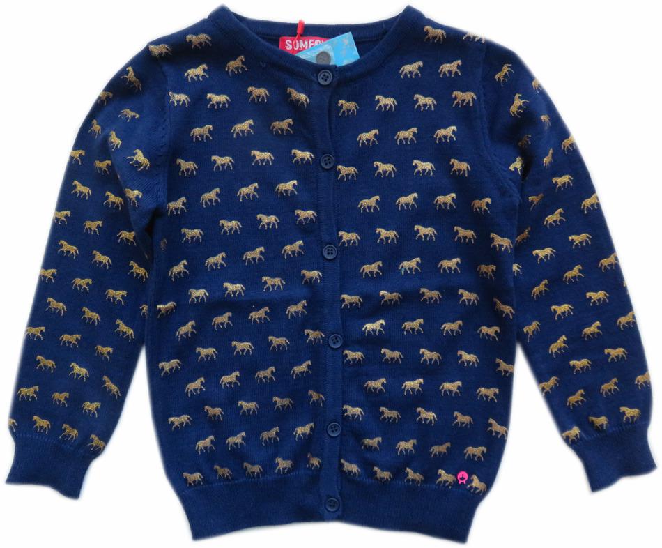 Vest Kinderkleding.Someone Vest Paarden Donkerblauw Goud Parit Kinderkleding Online