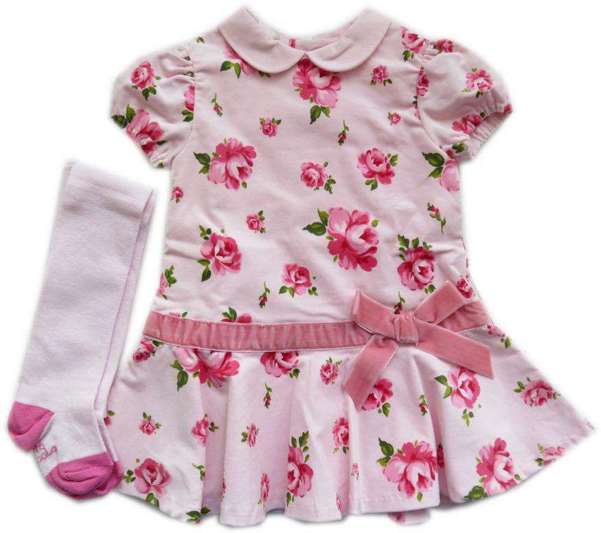 237f5fa855b Tutto Piccolo roze bloemen jurk met maillot - PaRit kinderkleding ...
